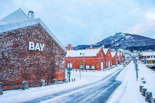 Hakodate Red Brick Warehouses  in winter, Japan