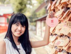 เสริมดวงรัก หักคาน ที่ Ikuta Shrine ศาลเจ้าแห่งความรักในโกเบ