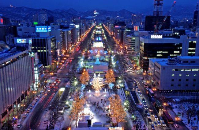 sapporo-snow-festival-city-night