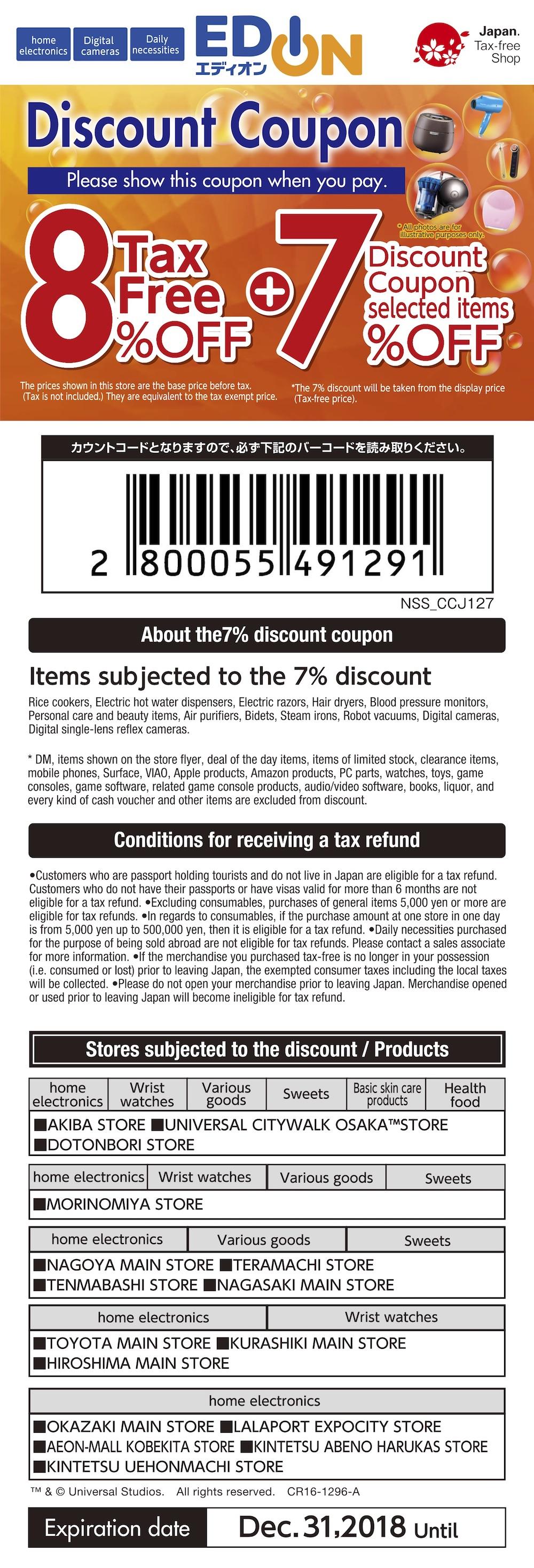 ลดราคาสินค้าที่เราซื้อ 7% และ TAX REFUND  8%