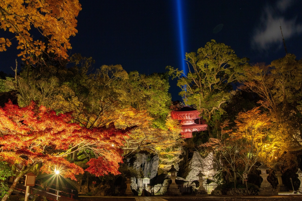 Ishiyama Temple Autumn Lights up