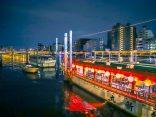 นั่งดินเนอร์ บรรยากาศสุดชิลบนเรือ Yakatabune Tsurishin ล่องแม่น้ำ Sumida โตเกียว
